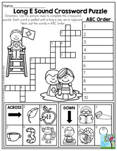 Long E Sound Crossword Puzzle- Use the clues to complete the crossword puzzle. Perfect summer fun! This one is found in the Summer Review NO PREP Packet for 2nd Grade, along with tons of other fun summer activities!