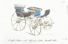 Two Nerdy History Girls: A perfectly safe vehicle for 1819.  Light Phaeton, from Ackermann's Repository.