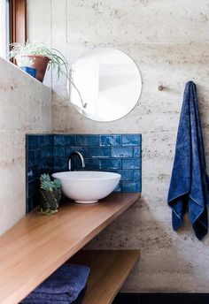 Aiding concentration and bringing laser like clarity, PANTONE Classic Blue re-centers our thoughts. The best design pieces classic blue are now available. Mold In Bathroom, Bathroom Fixtures, Small Bathroom, Bathroom Modern, Bathroom Cupboards, Bathroom Inspo, Bathroom Inspiration, Bathroom Ideas, Blue Subway Tile