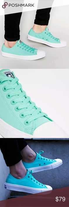 separation shoes 137e6 4009d NWT Converse Chuck II 2 Mint Green Low Top - New in box! - Great mint green  pastel, Great for Summer! - Lunarlon insoles for extra comfort - Size   Men s ...