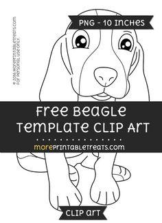 Free Beagle Template - Clipart