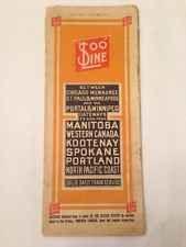 Vintage Ephemera: Train Time Table 1911 Soo Line Railroad Chicago Milwaukee WA