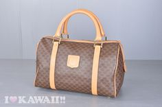 celine brown cotton travel bag