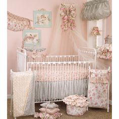 Cotton Tale Tea Party 7-piece Crib Bedding Set | Overstock.com Shopping - Big Discounts on Cotton Tale Bedding Sets