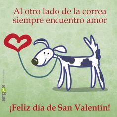 Los perros nos felicitan San Valentín