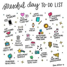 "97 Likes, 5 Comments - Dani DiPirro ‍‍ (@positivelypresent) on Instagram: ""Having a stressful day? Here are some ideas that might help. Hang in there! """