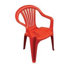 Adams Mfg Corp Red Slat Seat Resin Stackable Patio Dining Chair Get In Multiple Colors