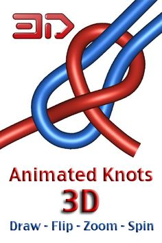 Tie, untie and rotate more than 100 knots with just your finger! Knots will give you a whole new perspective on knots! - Reference App in 75 Countries*- Included in Scouting Magazine's Animated Knots, Android, Apps, 3d, Iphone, App, Appliques