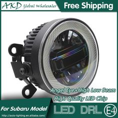 114.71$  Buy now - http://aliwe1.worldwells.pw/go.php?t=32788323362 - AKD Car Styling Angel Eye Fog Lamp for XV LED DRL Daytime Running Light High Low Beam Fog Automobile Accessories