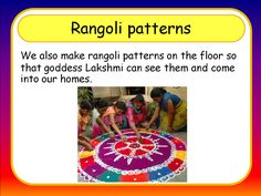 Divali - rangoli patterns: a clear and simple PowerPoint with lots of images.