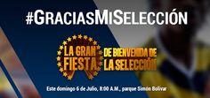 Gran Fiesta de Bienvenida a nuestra Selección Colombia....