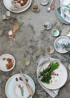 charred broccolini + burnt orange + chilli + almonds
