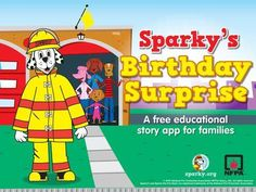 Sparky's Birthday Surprise is a completely FREE app from the National Fire Protection Association (NFPA) and Cupcake Digital. the app contains not only a story but 3 educational… Educational Apps For Kids, Educational Technology, Sparky The Fire Dog, Fire Prevention Week, Fire Safety, Safety App, App Of The Day, Iphone, Teaching Kids