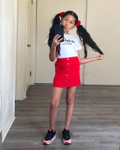 Image may contain: 1 person, standing and shoes Cute Preppy Outfits, Little Girl Outfits, Cute Outfits For Kids, Chic Outfits, Fashion Outfits, Girls Fashion Clothes, Tween Fashion, Baby Girl Fashion, Beautiful Little Girls