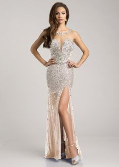 Envious Couture by Karishma Creations 15217 Nude Sparkly Jeweled Prom Pageant Dress