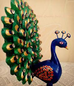 When Creative Juices Flow...: DIY Dancing Peacock Statue