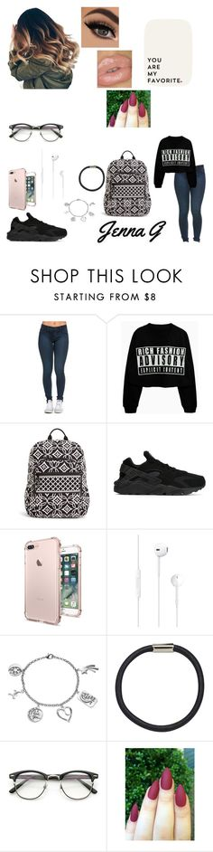 """""""31st day od school...♡"""" by iamjennagarcia on Polyvore featuring Vera Bradley, NIKE, Love This Life, Hershesons and ZeroUV"""
