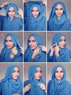 Loose Summer Hijab Tutorial/ This is a cute opened hijab style that's simple enough to add jewelry