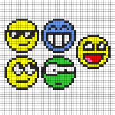 Faces Perler Bead Pattern | Bead Sprites | Misc Fuse Bead Patterns