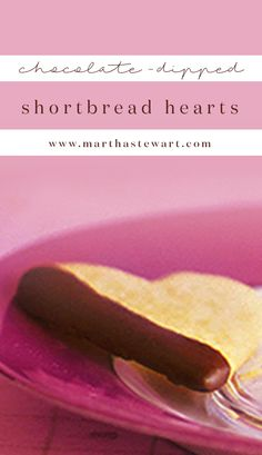 Chocolate-Dipped Shortbread Hearts | Martha Stewart Living - You may ...
