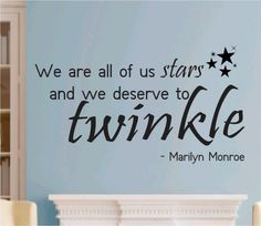 We Are All Of Us Stars Quote Marilyn Monroe Wall Decal Sticker Teen Love Girl Room Decor Words Tattoo