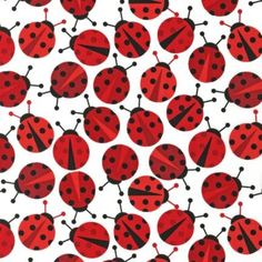 Tissu ENDUIT Kaufman Coccinelles 20x150 cm