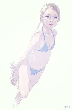 drawing - swimwear