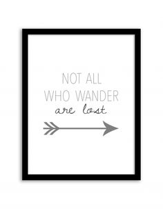 Free Printable Not All Who Wander Are Lost Wall Art from Chicfetti.com