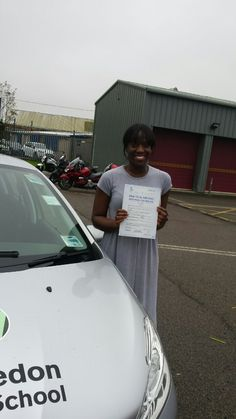 Well done to Amma Boateng from #Battersea who passed her test in Mitcham.