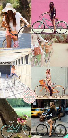 Cruiser Bikes--love the orange!
