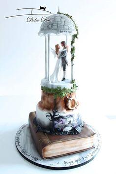 10 Wedding Cakes For Book Lovers — Cake Wrecks Beautiful Wedding Cakes, Beautiful Cakes, Amazing Cakes, Crazy Wedding Cakes, Unique Wedding Cakes, Elegant Wedding, Unique Cakes, Creative Cakes, Cake Wrecks