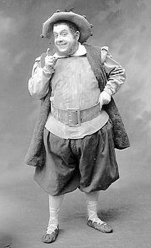 Lucien Fugère representando a Sancho Panza en la ópera Don Quichotte