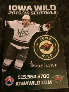 iowa wild 2015-16 hockey pocket schedule from $1.06