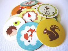 Woodland Animals and Gnome Stickers