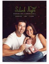 Silent Night Baby Christmas Photo Cards; this would be cute with baby sleeping for a humorous card