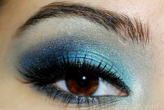 Blue on Blue eye makeup