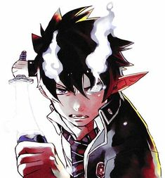Which Blue Exorcist Character Are You?-Rin Okumura Rin is a hot headed and rebellious boy that doesn't always think things through. Chibi Manga, Manga Anime, Fanart Manga, Ao No Exorcist, Blue Exorcist Anime, I Love Anime, Awesome Anime, Me Me Me Anime, Rin Okumura