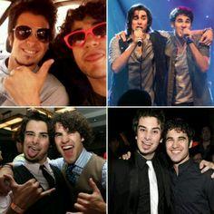 Joey and Darren :) Darren 's wearing his pink sunglasses :)