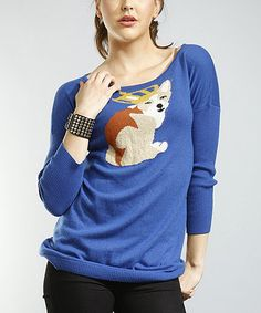 Take a look at this Cobalt Blue King Dog Sweater by Young Threads on #zulily today!
