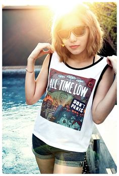All Time Low Shirt Girl Sexy Summer Sideboob Women by OhLaLaOhLaLa, $13.99