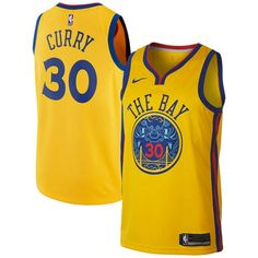 Nike Warriors  30 Stephen Curry Gold NBA Swingman City Edition Jersey Nba Golden  State Warriors cc98cf934