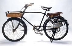 1932 Canada Cycle and Motor co Light Delivery Bicycle, very cool, another alternative engine mount Beer Bike, Powered Bicycle, Tools And Toys, Motorized Bicycle, Outdoor Tools, Cargo Bike, Cool Motorcycles, Vintage Bicycles, Red Riding Hood