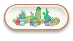 This succulent sandwich tray is ideal for outdoor entertaining but elegant enough for indoor use. Includes a matte finish underside to emulate ceramic. Melamine Dinnerware, Dinnerware Sets, Sandwich Trays, Sandwiches, At Home Store, Outdoor Entertaining, Serving Dishes, Succulents, Rio