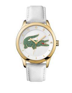 Accessoires | Montres | Montre analogique dorée Victoria pour femmes avec bracelet en cuir | La Baie D'Hudson