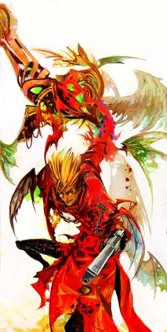 TRIGUN_BAD_VER_for_halloween by *hoyhoykung on deviantART