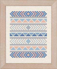 +This item is available for instant digital download* A lovely tribal pattern counted cross stitch pattern. The possibilities are endless- stitch it