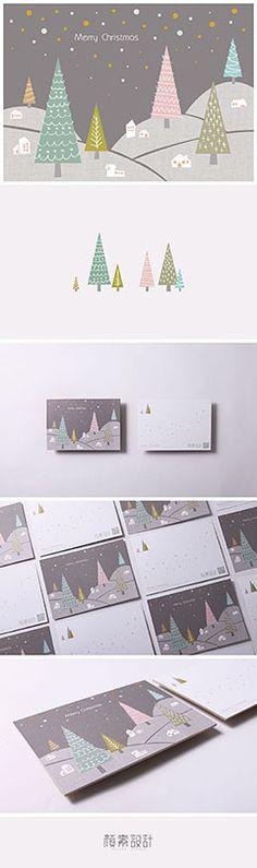 寒冷的夜晚,外面綿綿細雪, 每戶人家屋裡發出暖暖微光, 可愛的聖誕樹在外一起陪伴, 祝福每個人,聖誕快樂~新的一年更加幸福平安~ DESIGN/顏素設計工作室 #顏素設計工作室 #design #studio #明信片 #聖誕節