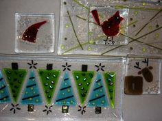 Image result for fused glass ideas with glass marbles christmas