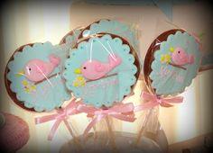 ScrapFest - Idéias Personalizadas: Chá de Bebê - Passarinho azul e rosa