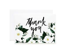 Greeting Card Lush Florals Thank you Watercolor by BethanyEdenArt